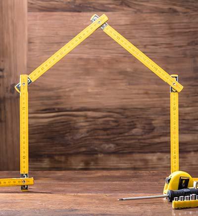 Bild mit einem Haus für die Vergabe- und Vertragsordnung für Bauleistungen.